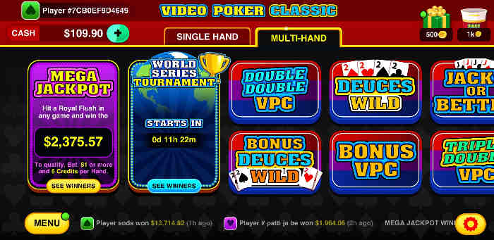 videopoker android app