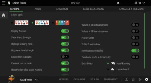 Nederlandse taal bij Unibet Poker